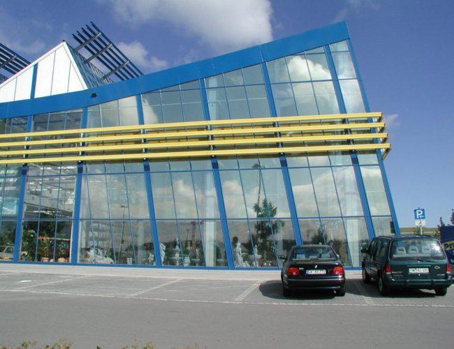 Schutzfolien Glasgebäude